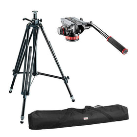 Manfrotto MK 028 Tripod, 502AH Video Head Kit