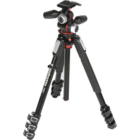 Manfrotto MK 190XPRO4 Aluminum Tripod with 3-Way Head
