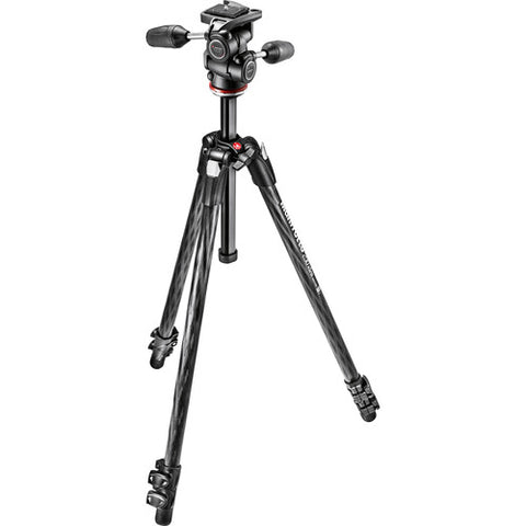 Manfrotto MK290XTC3-3WUS 290 Xtra Carbon Fiber Tripod with 804 3-Way Pan