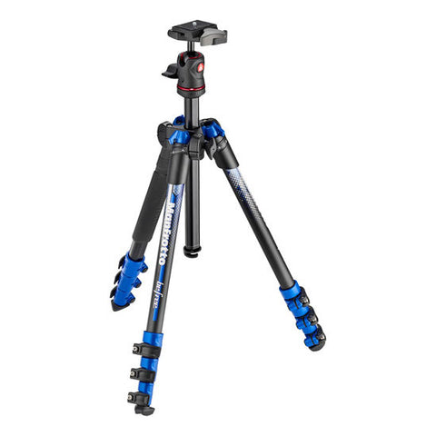Manfrotto MKBFRA4BL-BH BeFree Aluminum Travel Tripod (Blue)