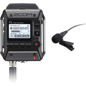 Zoom F1-LP Track Portable Field Recorder with Lavalier Microphone