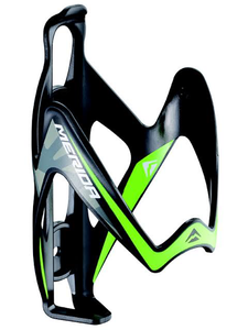 MERIDA - REINFORCED PLASTIC BOTTLE CAGE (BLK/GRN)