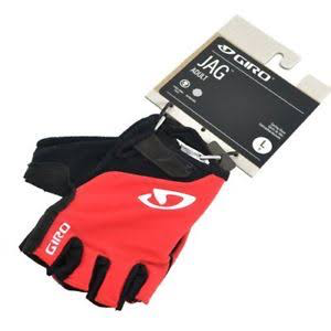 GLOVES - GIRO JAG ADULT SHORT FINGER (RED)