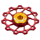 KCNC JOCKEY WHEEL 11 TOOTH RED PAIR (CHSP-11T-2-R)
