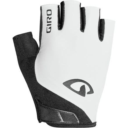 GLOVES - GIRO JAG ADULT SHORT FINGER (WHITE)