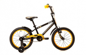 "BICYCLE - AVALANCHE  ZOID 16"" BOYS BLACK/ORANGE"