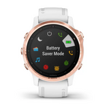 Garmin Fenix 6S Pro Rose Gold With White Strap