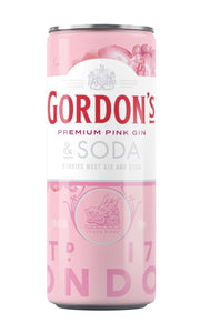 Gordon's Pink Gin & Soda Cans 12 x 250ml Pack