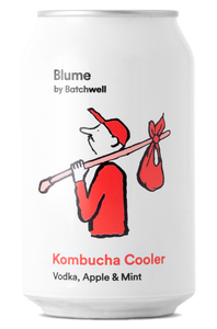 Blume Vodka, Apple and Mint Kombucha Cooler 4 pack 330ml cans