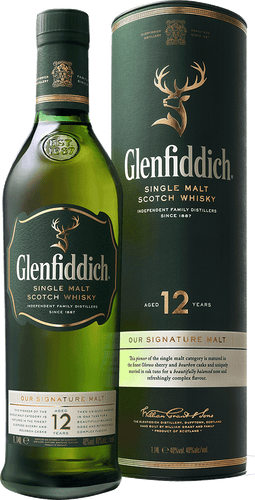 Glenfiddich 12 Year Old Signature Single Malt Scotch 700ml