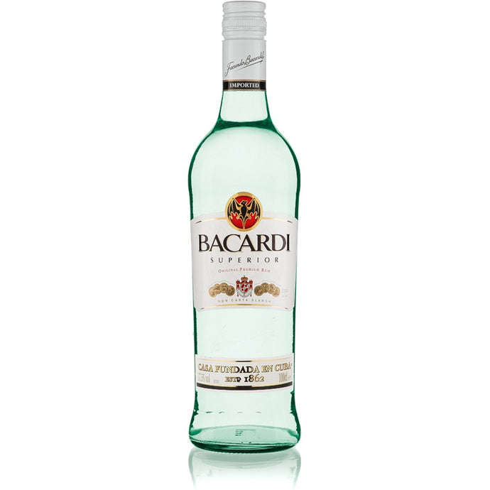 Bacardi White Rum 1000ml