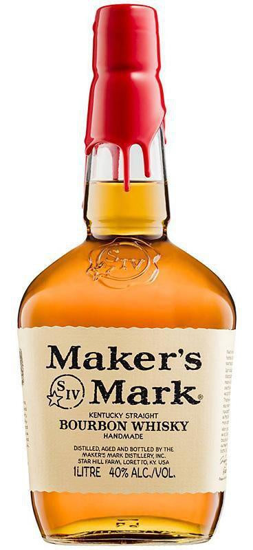 Maker's Mark Kentucky Straight Bourbon Whisky 1000ml
