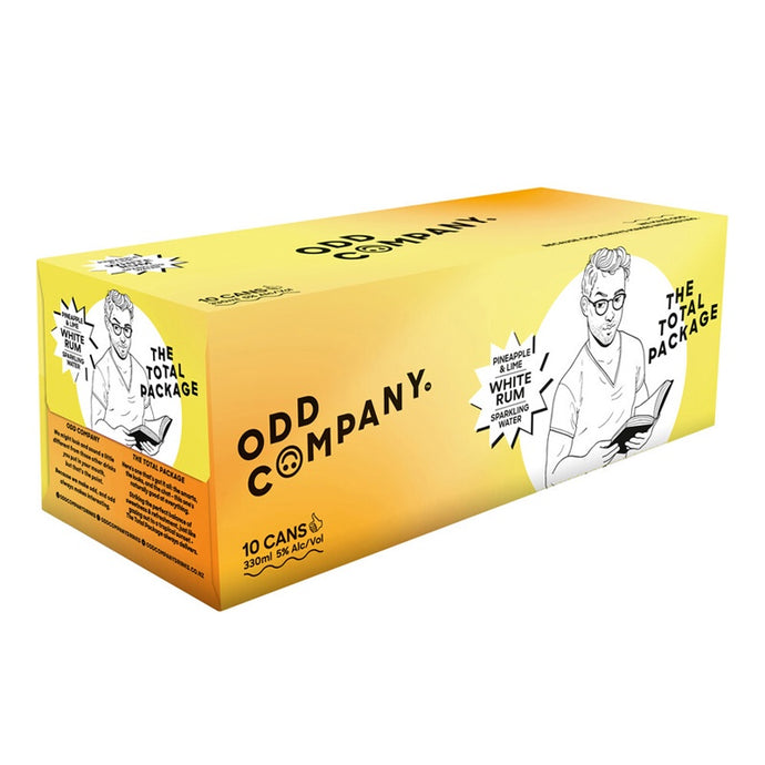 Odd Company White Rum, Pineapple & Lime RTD 330ml can 10-Pack