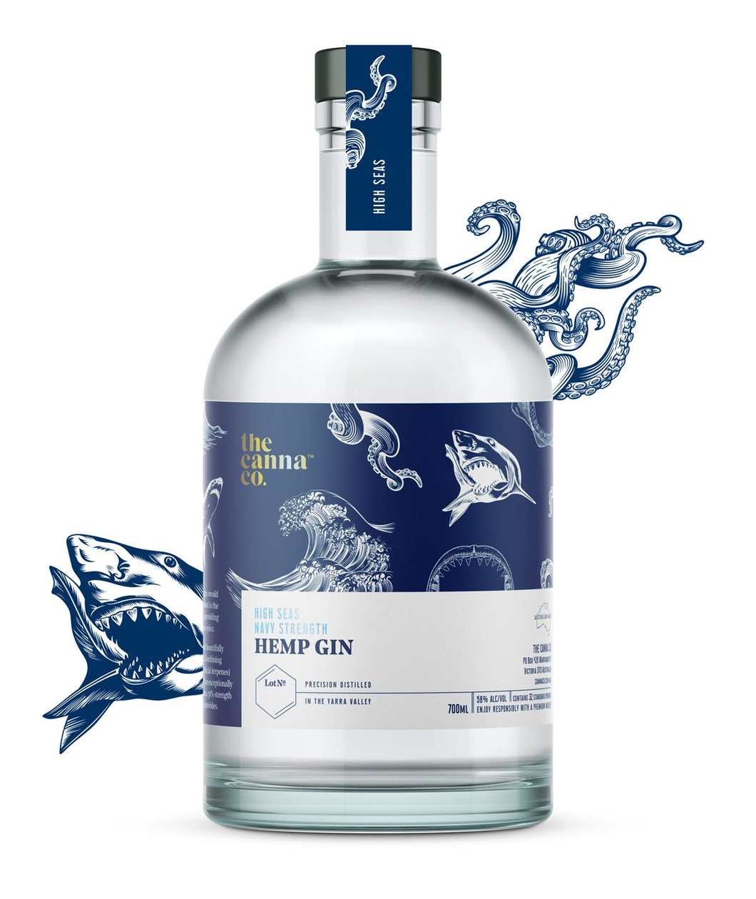 The Canna Co. High Seas Navy Strength Hemp Gin 700ml