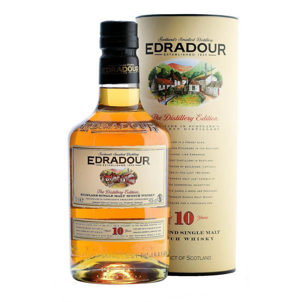 Edradour 10 Year Old Single Malt Scotch 700ml