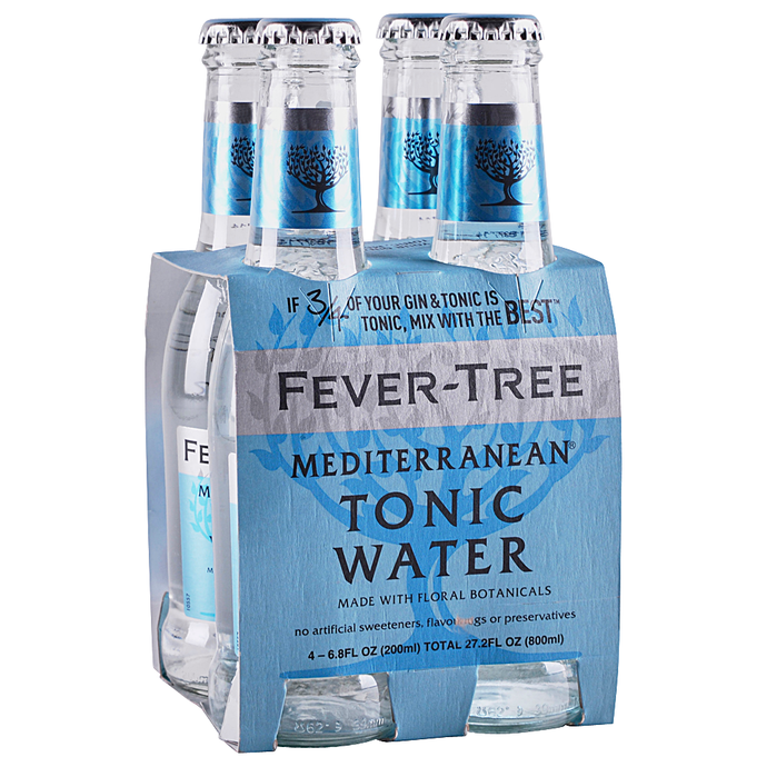 Fever Tree 'Mediterranean' Tonic 200ml (4-Pack)