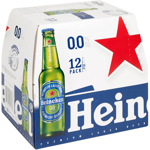 Heineken 0% 330ml Bottles 12-Pack
