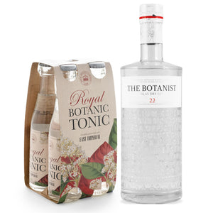 The Botanist Islay Gin 700ml + East Imperial Royal Botanic Tonic Water (4-Pack) Bundle