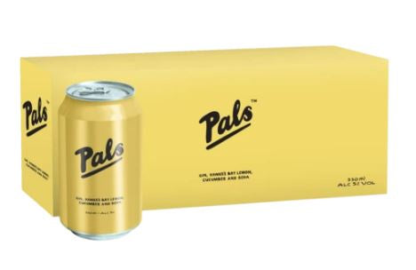 Pals Gin Hawkes Bay Lemon Cucumber & Soda 330ml Cans 10-Pack