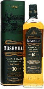 Bushmills 10 Year Old Single Malt Irish Whiskey 700ml