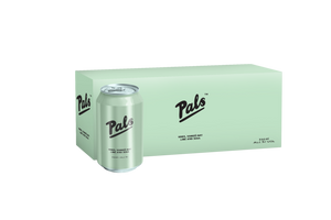Pals Vodka Hawkes Bay Lime & Soda 330ml Cans 10-Pack
