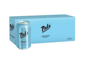 Pals American Whiskey Hawkes Bay Apple & Soda 330ml Cans (10-Pack)
