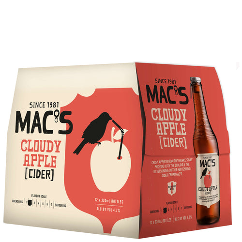 Macs Cloudy Apple Cider 330ml Bottles (12 Pack)
