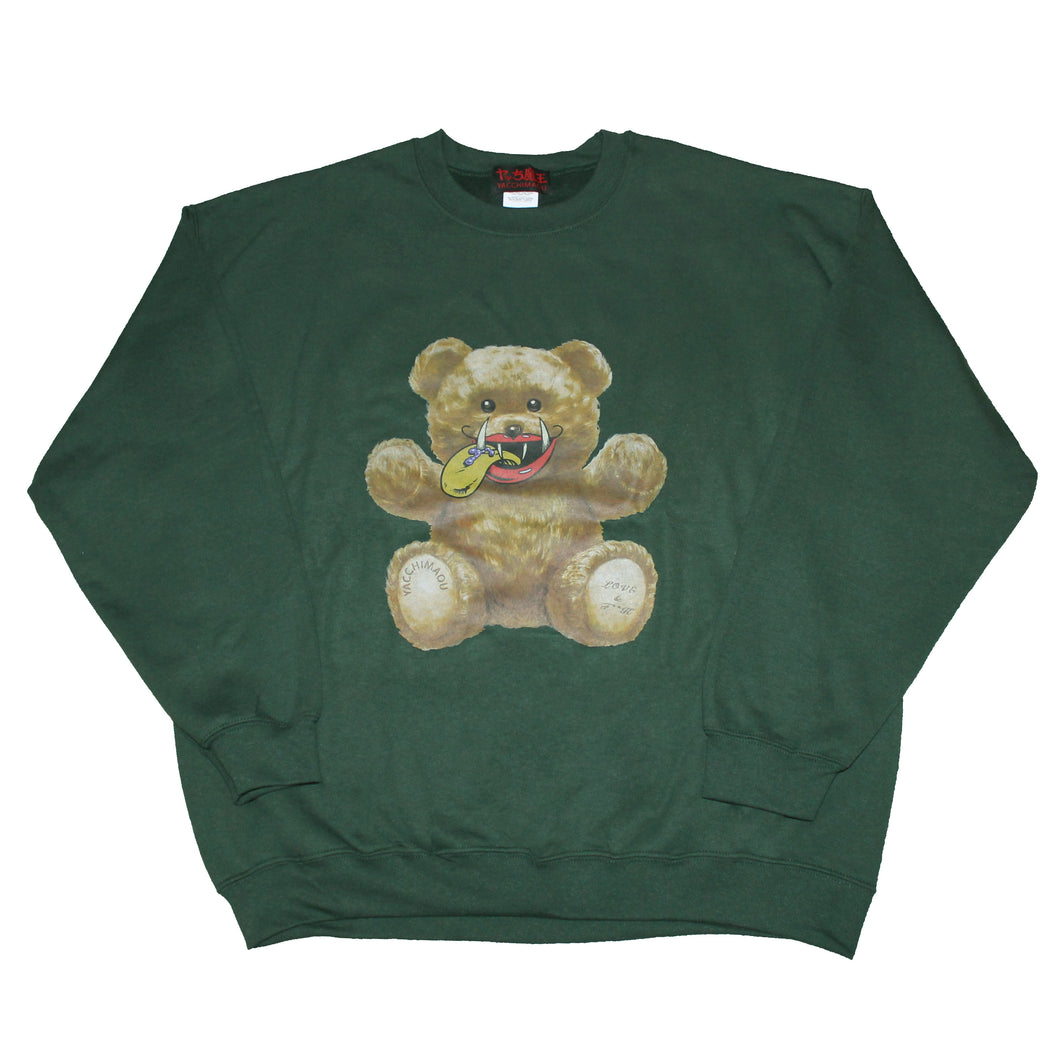 MAO-TONGUE BEAR  SWEATSHIRT  GREEN