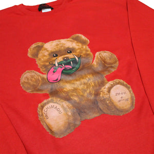 MAO-TONGUE BEAR  SWEATSHIRT  RED