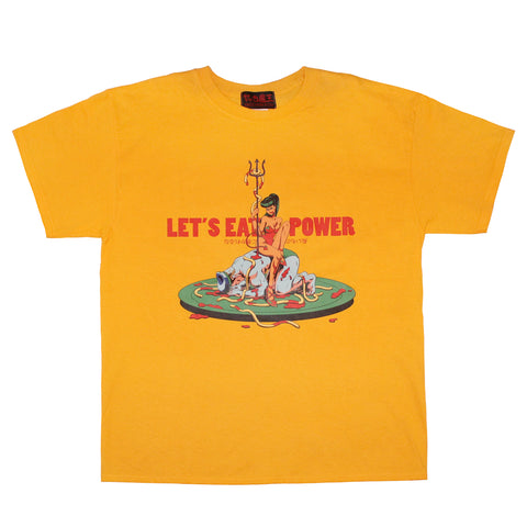 LET'S EAT POWER  T-SHIRT  YELLOW