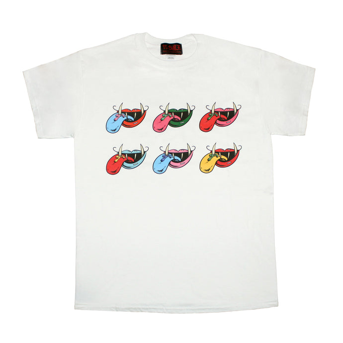 6 MOUTH LOGO  T-SHIRT  WHITE