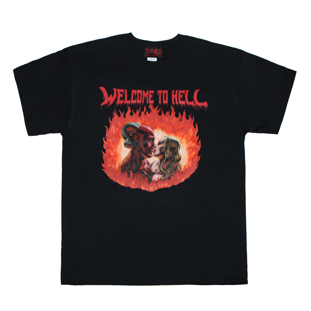 WELCOME TO HELL  T-SHIRT  BLACK