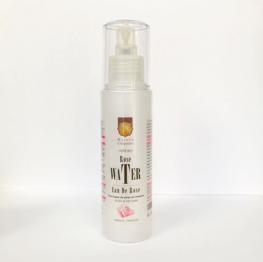Spray Rose Water Priming Mist Shimmer Replenishment Moisturizing Refreshing 4 Oz - Maison d'arganier