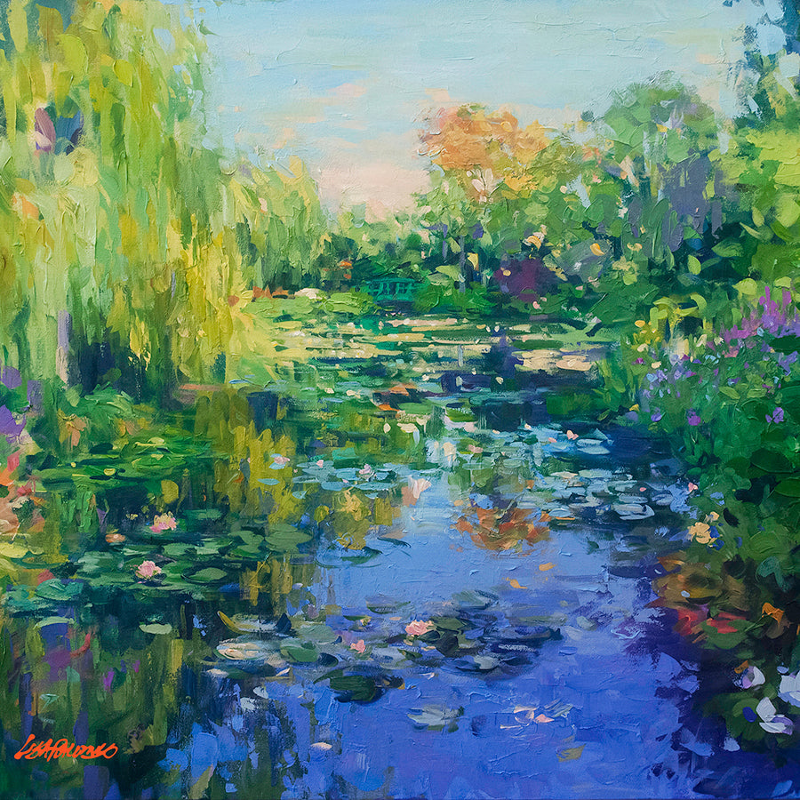 The Japanese Bridge, Giverny France. Ode to Monet water lilies