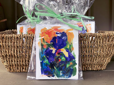 Oh So Pretty Floral - Iris Notecards