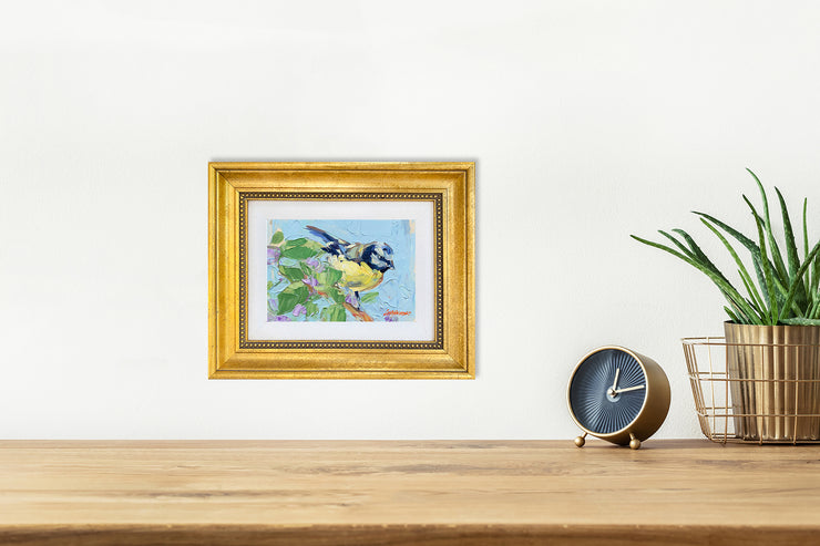 Bluebird and Lilacs - giclee