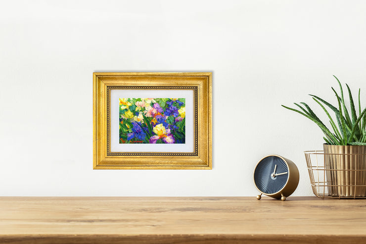 Iris Garden Whisper - mini canvas giclee
