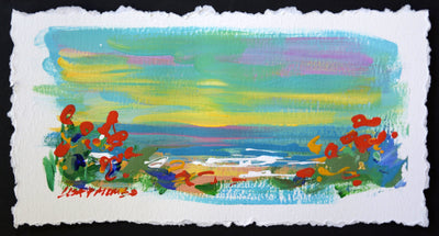 Beach Bound #2 - original seascape painting on paper