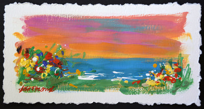 Beach Bound #3 - original seascape painting on paper