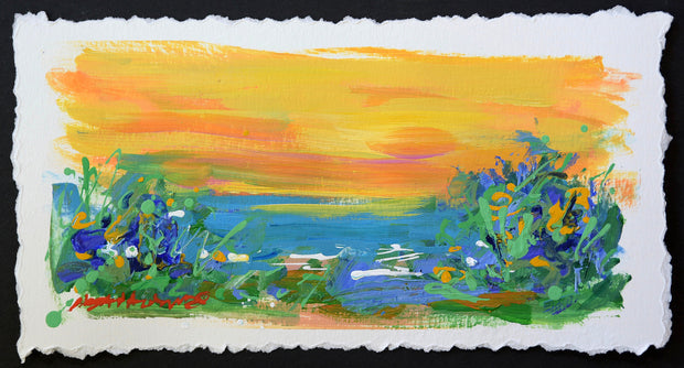 Beach Bound #4 - original seascape painting on paper