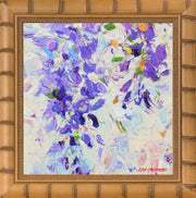 In the Wisteria Courtyard #1, I - mixed media original