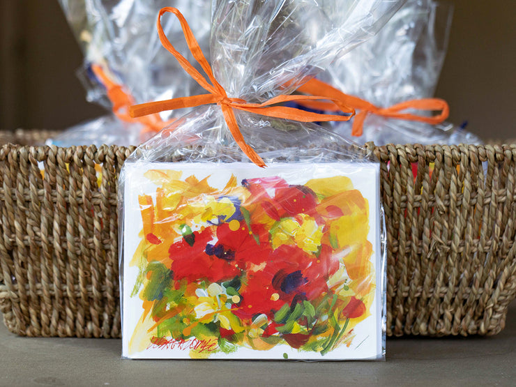 Oh So Pretty Floral - Poppy Notecards