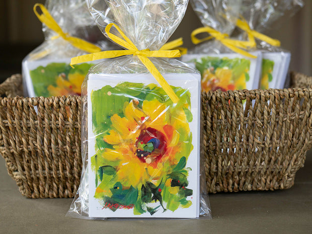 Oh So Pretty Floral - Sunflower Notecards