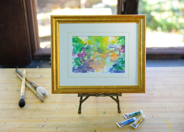 Monet's Bridge #5 - Framed Original Watercolor