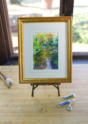 Monet's Bridge #2 - Framed Original Watercolor