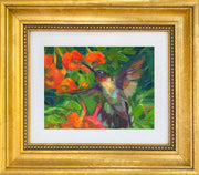 Ruby Throated and Trumpet Vine - giclee