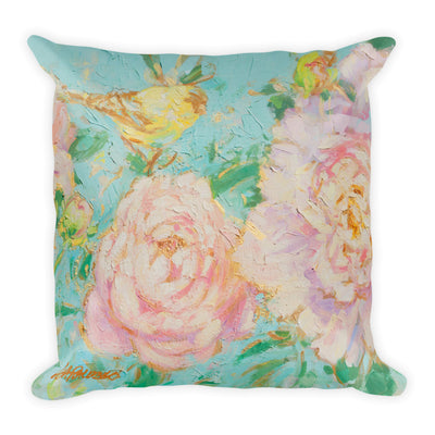 Pretty Peony and Songbird reversable Pillow