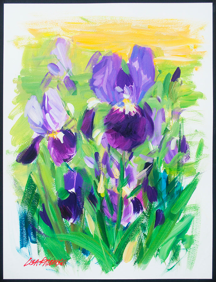 Purple Iris Breeze - original iris painting