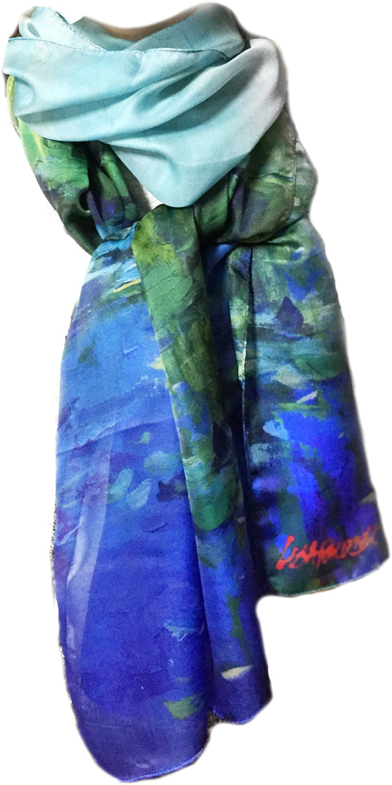 The Japanese Bridge - silk blend scarf