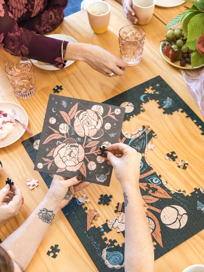 Mindful Jigsaw Puzzle - 400 Pieces - Peony Kitty